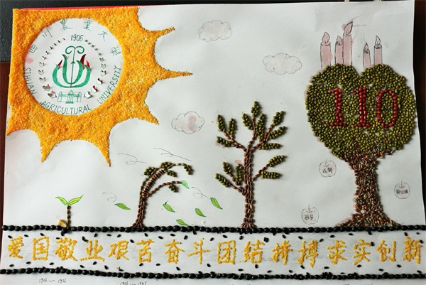 农学院校庆种艺画大赛靓丽上演图片
