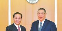 彭清华会见澳门特别行政区行政长官崔世安 - 人民政府